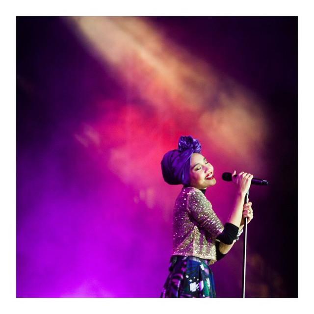 Yuna performing
