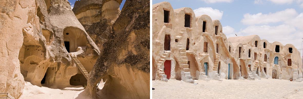 Ksars de Hadada et de Mededine utilisés pour les tournages de Star Wars - Tunisie