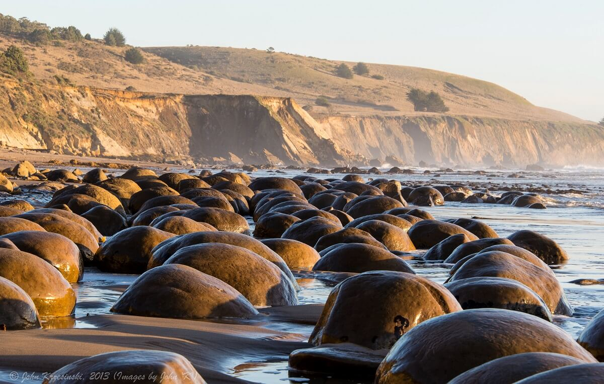 Plage de Bowling Ball - Californie