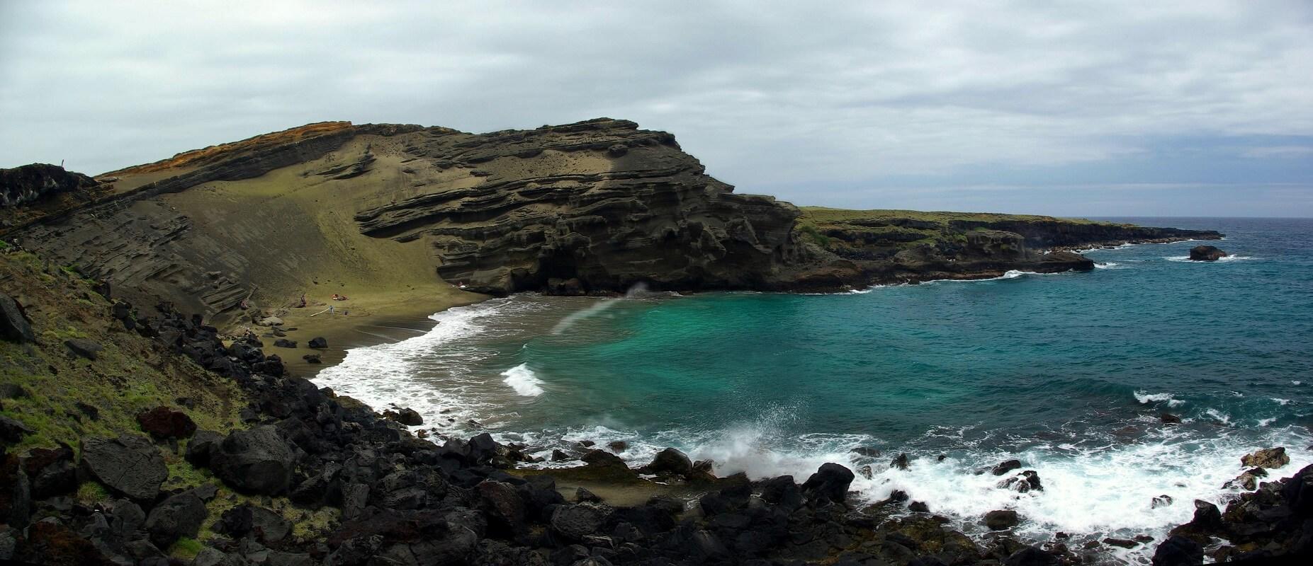 Plage de Green Sand - Hawai