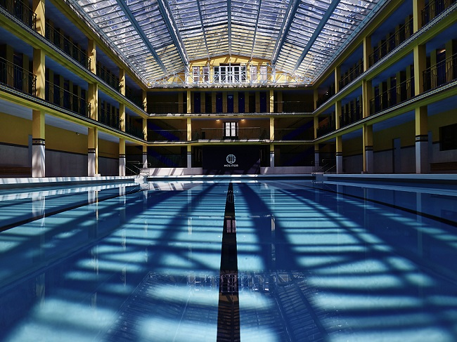 Le bassin d'hiver de la piscine Molitor