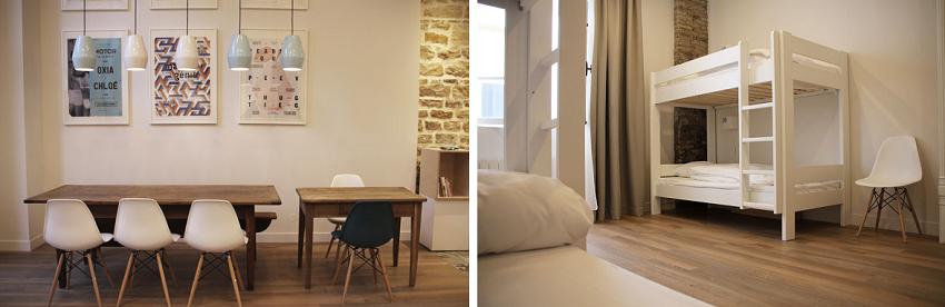 Lobby et chambre dortoir - Slo Living Hostel - Lyon