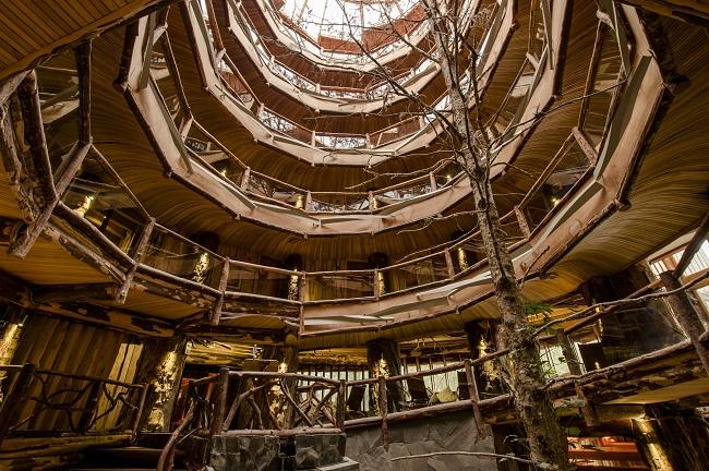 Coursive intérieure du Nothofagus Hotel & Spa