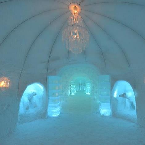 Les 7 plus beaux h tels de glace pour vivre la f erie de l for Interieur igloo