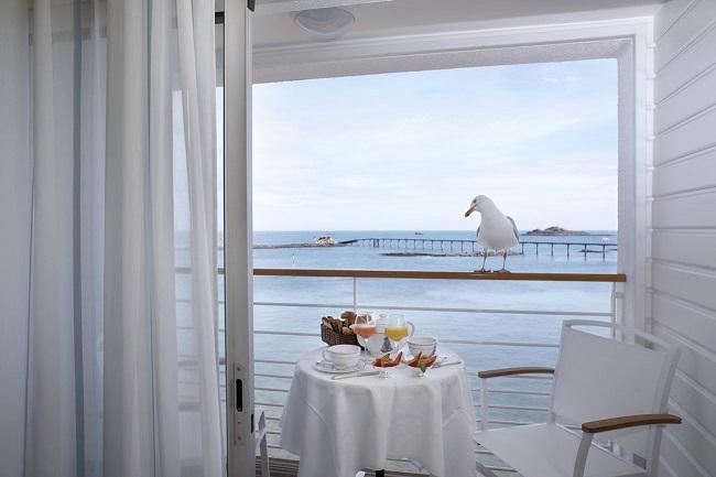 Terrasse - Best Western Grand Hôtel Talabardon - Roscoff