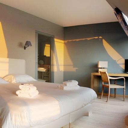 Chambre - Hôtel Le Château de sable - Bretagne