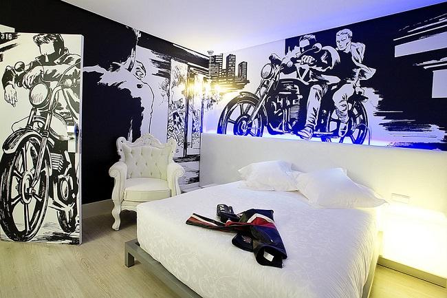 Chambre de l'hôtel Dormir D Cine de Madrid