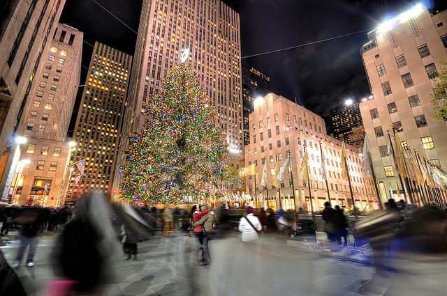 Patinoire et sapin de noel au Rockefeller Center - New York