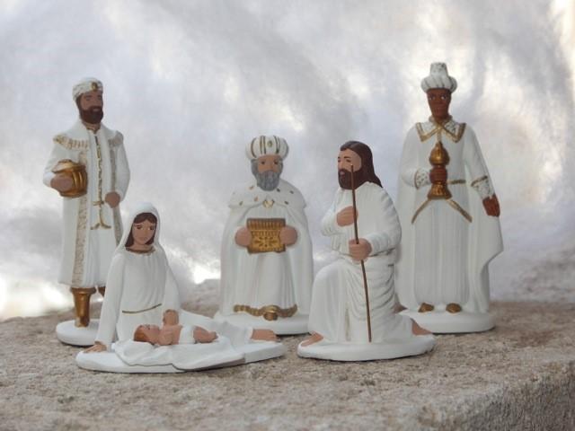 Crèche de Noël et santons de la Foire aux Santons de Marseille