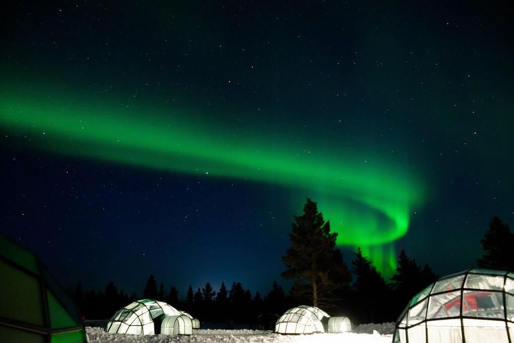 Kakslauttanen igloo village en Finlande