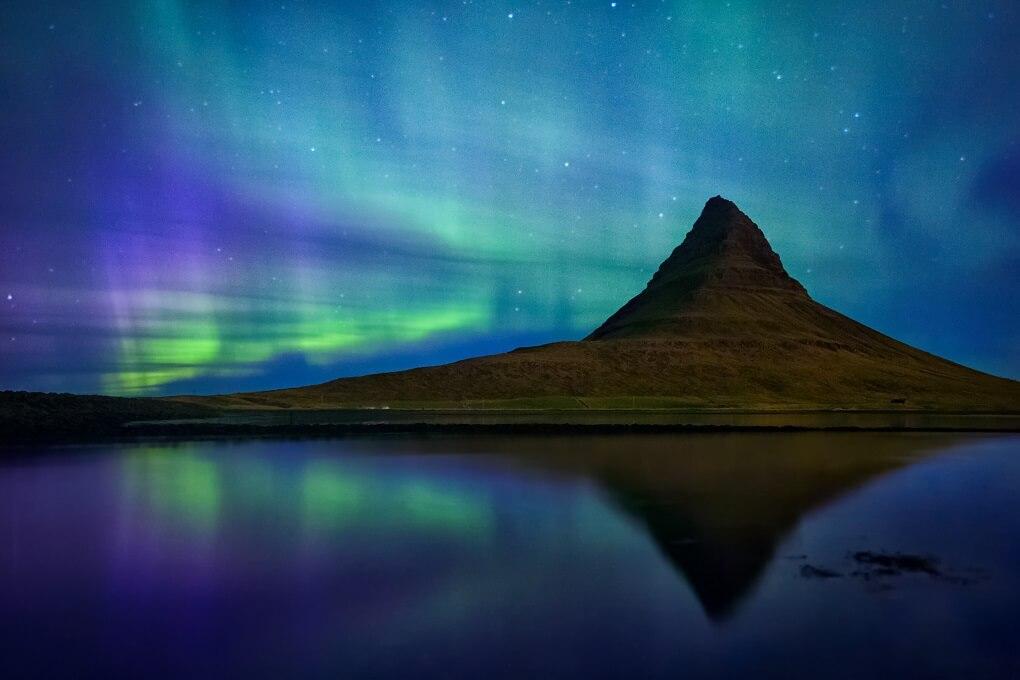 Aurore Boréale à Myvatn en Islande