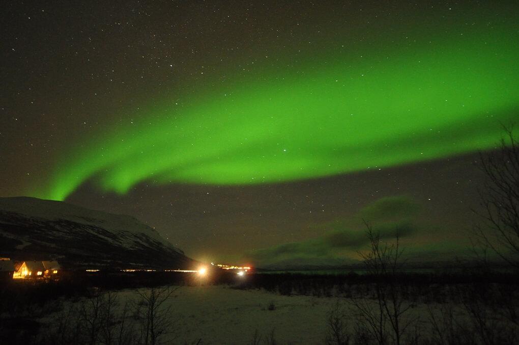 Aurore Boréale à Abisko en Suède