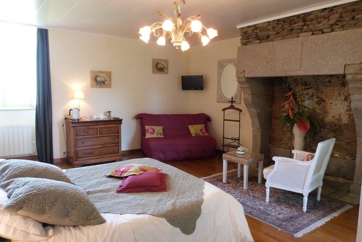Chambre - Hôtel La Métairie du Vauhariot - Cancale