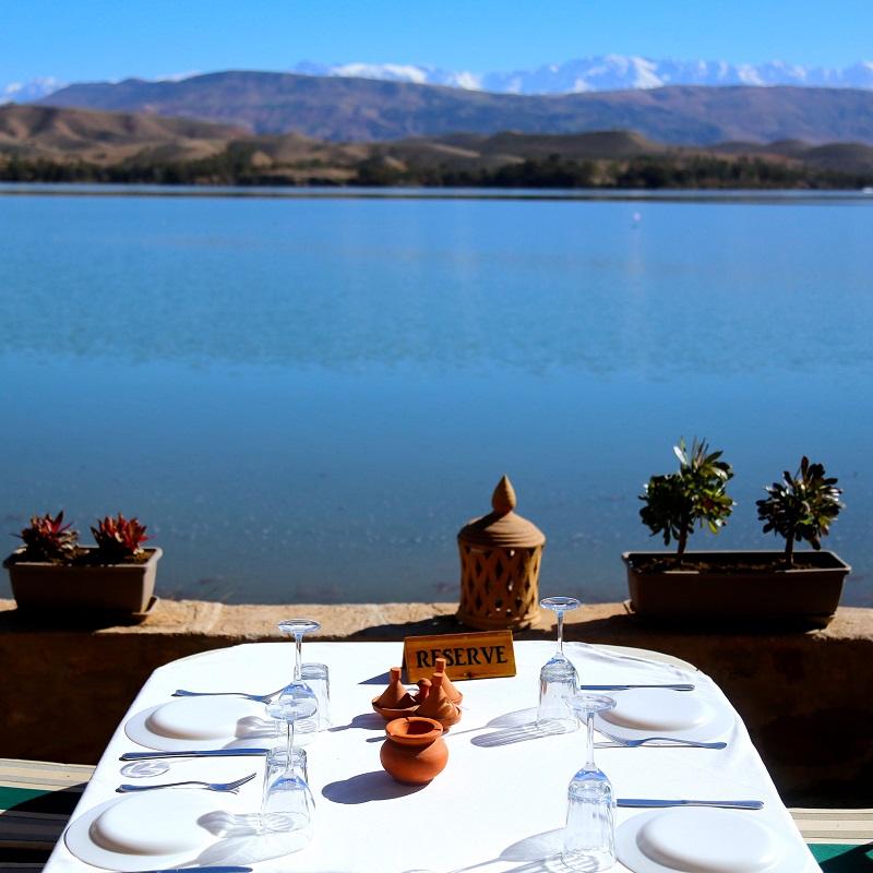 Vue sur le lac Lalla Takkerk