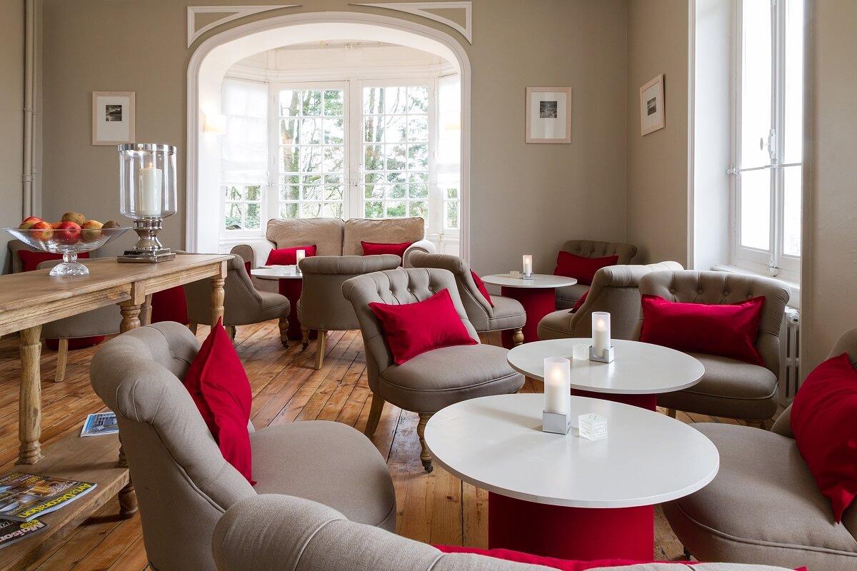 Salon - Hôtel Les Villas d'Arromanches - Arromanches Les Bains