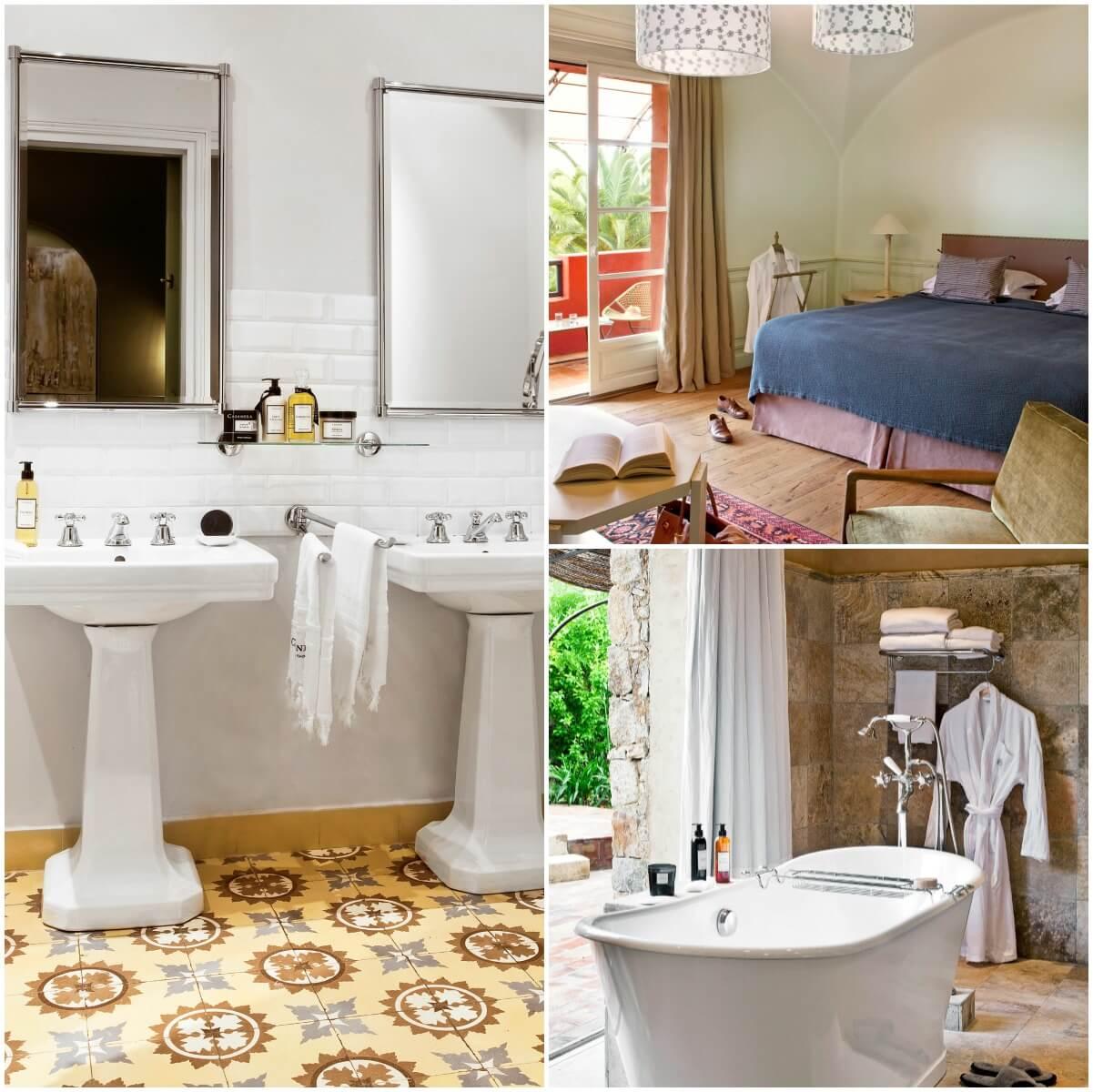 Chambre et salle de bain - Hôtel La Signoria - Calvi - Corse du sud