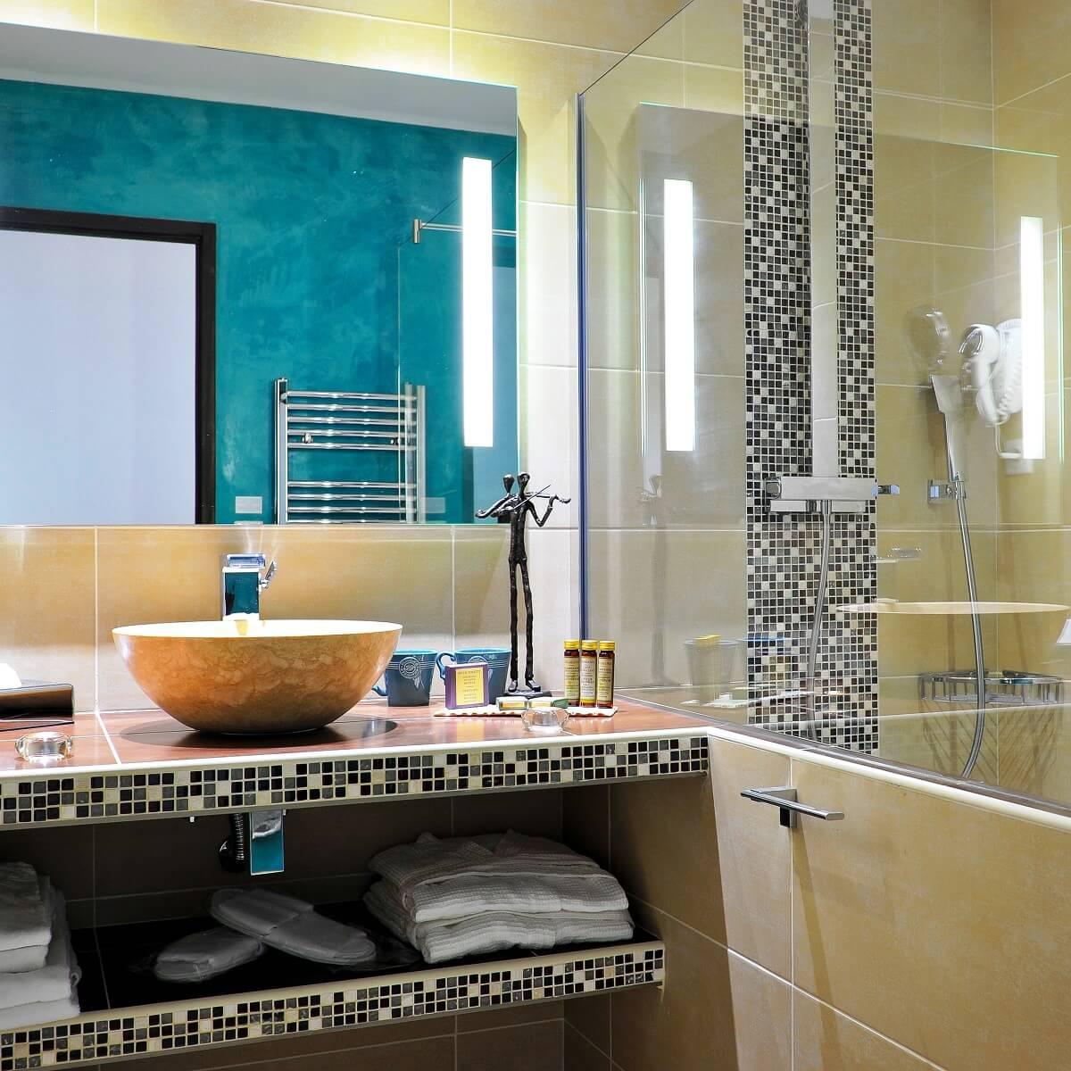 Salle de bain - Hôtel Liberata - L'île Rousse - Haute-Corse