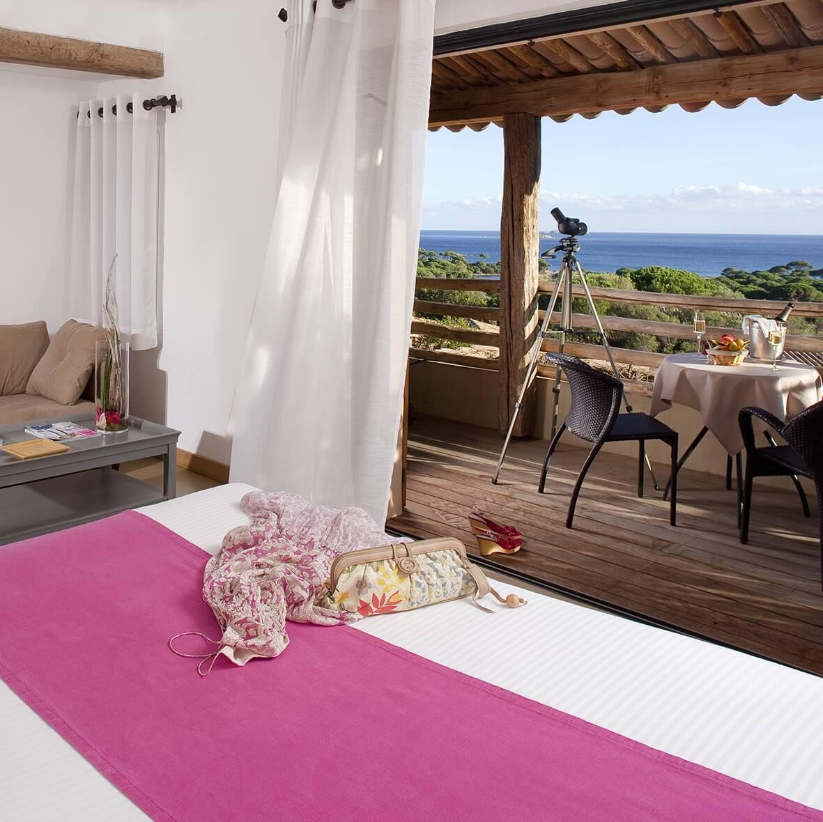 Chambre Panoramique - Hôtel Les Bergeries de Palombaggia - Porto-Vecchio - Corse du Sud