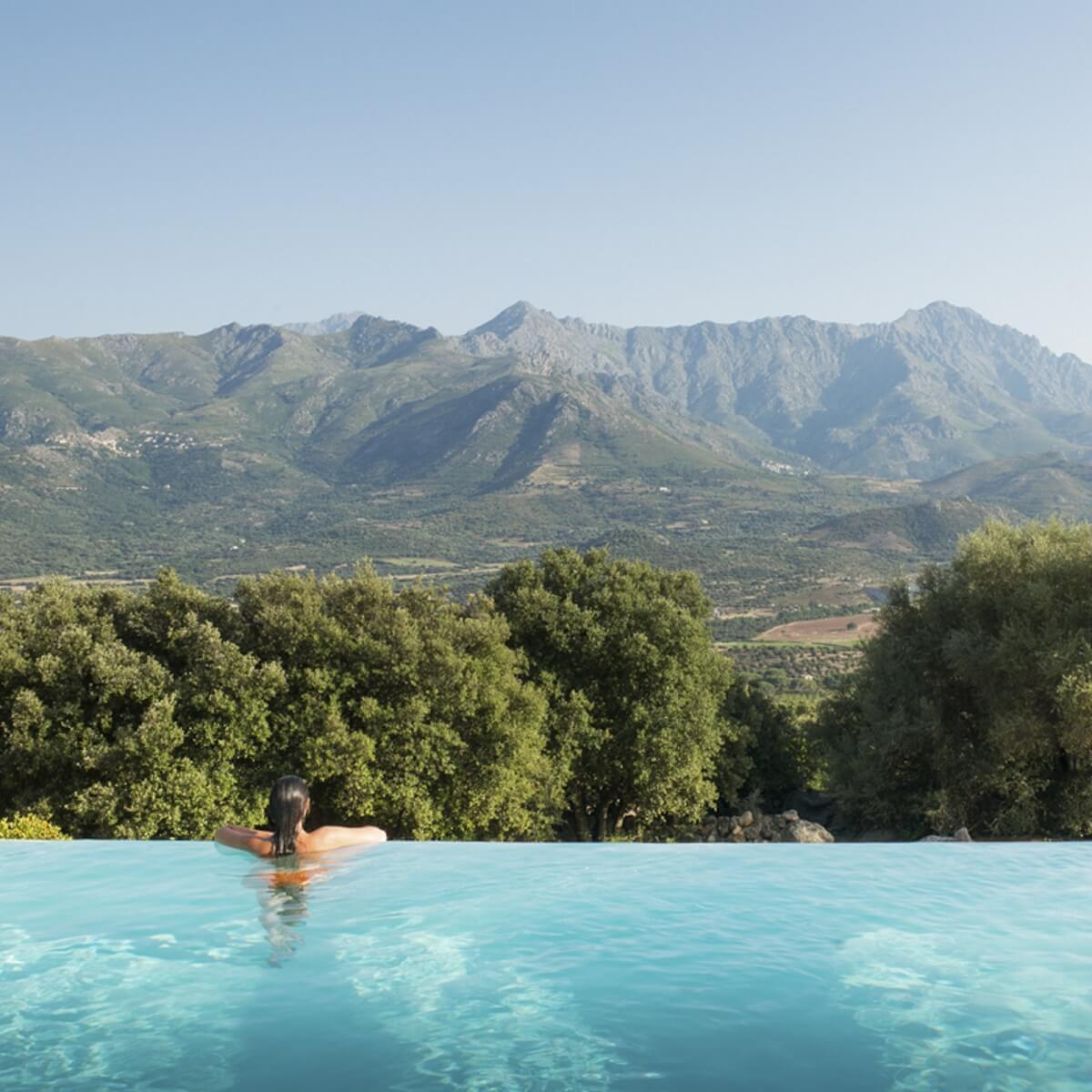 Piscine à débordement - Hôtel A Piattatella - Oletta - Corse