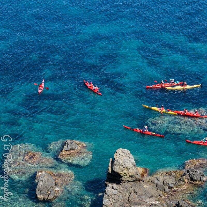 Canoe en mer - Corse