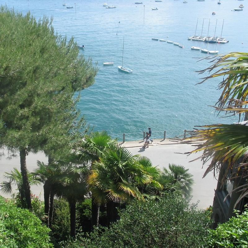 promenade en bord de mer et jardins à Dinard