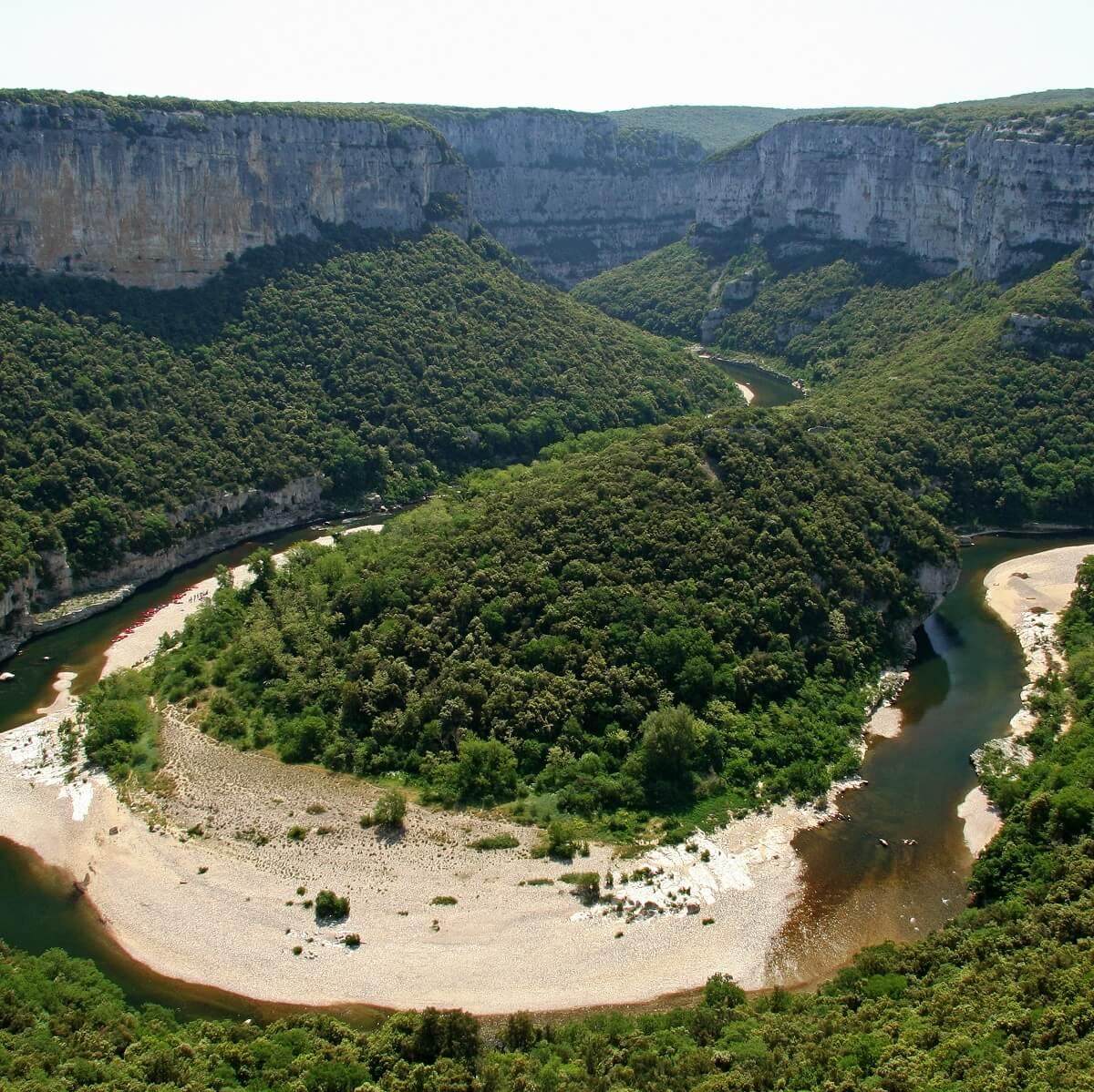 Plage des templiers - Gorges de l'Ardèche
