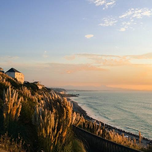 Vue sur la plage de la Côte des Basques