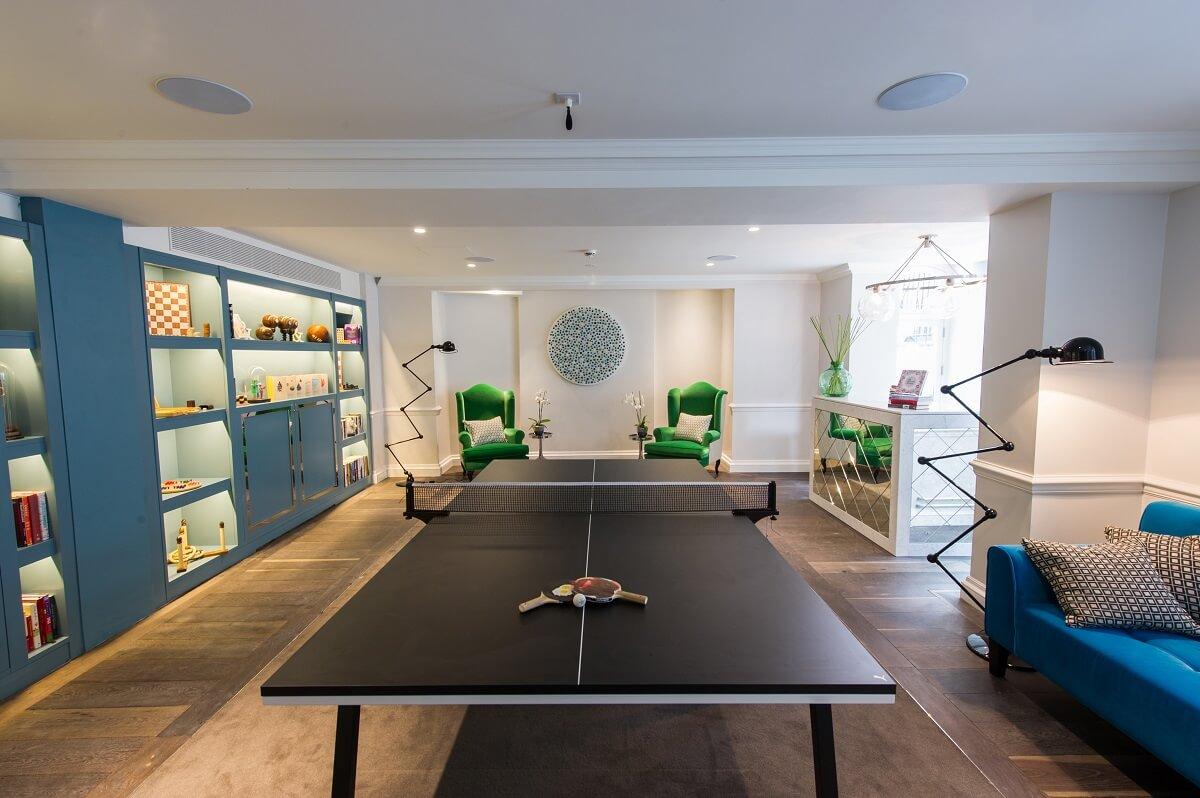 Salle de jeux - Hôtel Ampersand - Londres