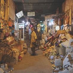 Le Souk de nuit à Marrakech
