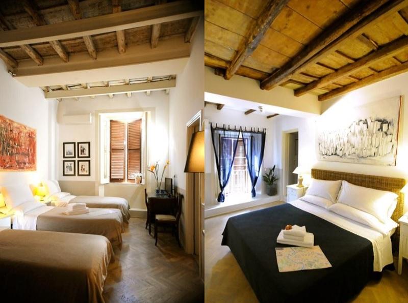 Chambres au Blue Hostel à Rome