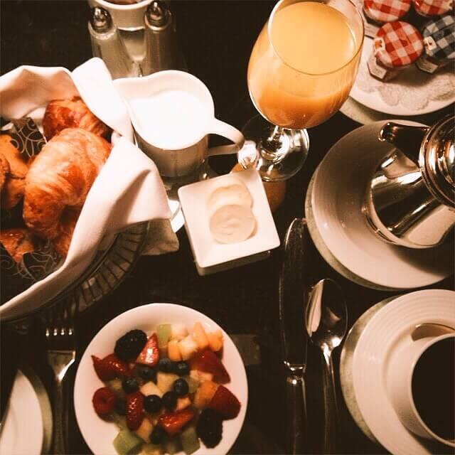 Petit-déjeuner - Hôtel Plaza Athénée - New-York