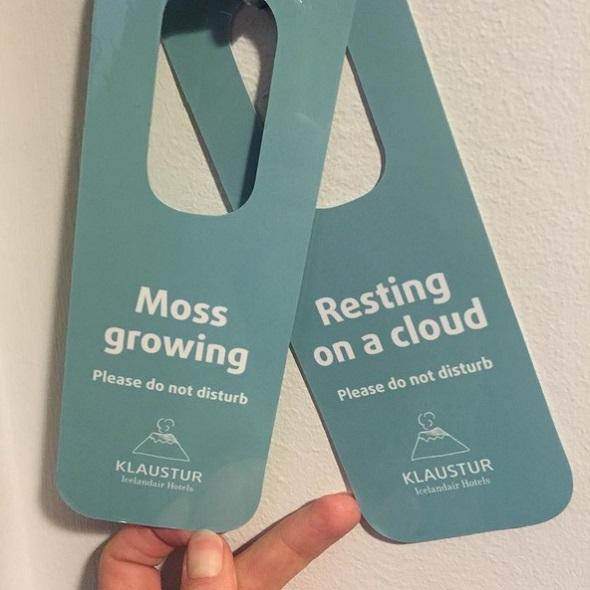 Hang the door Klaustur Icelandair hotels