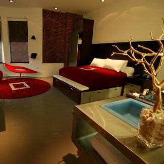 Chambre double à l'hôtel The Keating aux Etats-Unis
