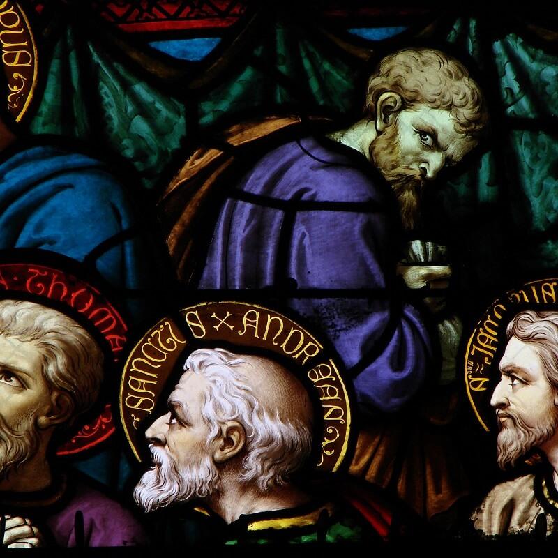 Les apôtres de Jésus - Vitrail de la Cathédrale de Moulins