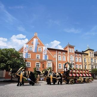 Façade du Zum Erdinger Weissbraü à Erding