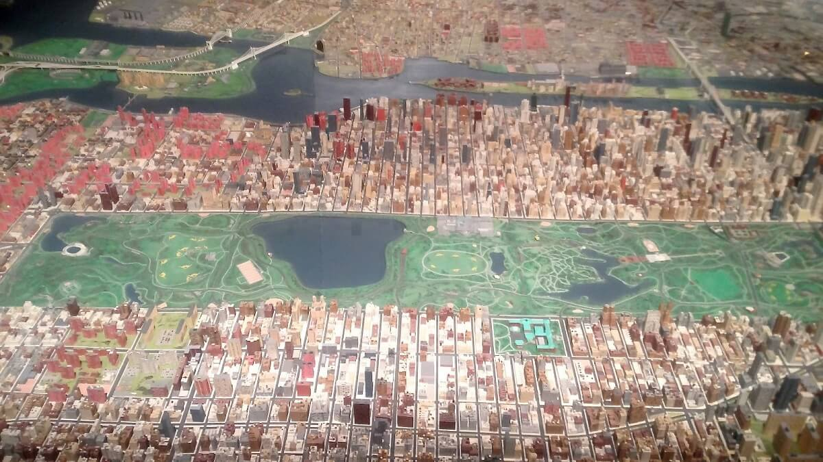 Maquette de la ville de New York - The Queens Museum of Art - Parc Flushing Meadows - New York