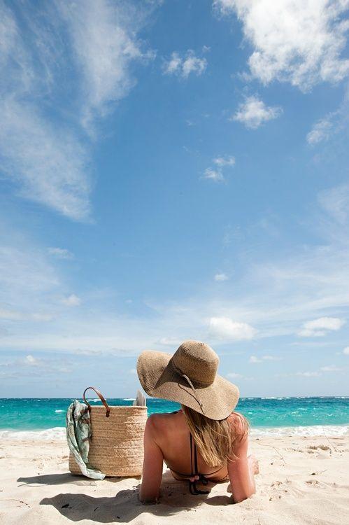 coastal beach bag