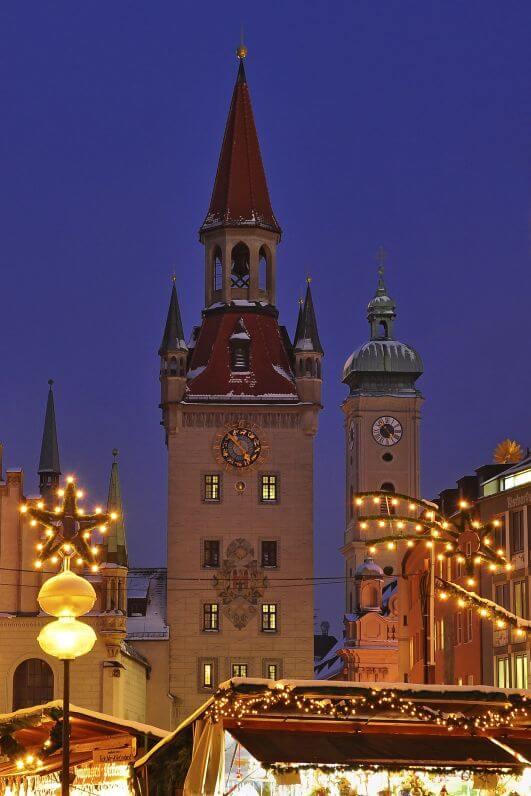 Weihnachtsmarkt in München am Rathaus