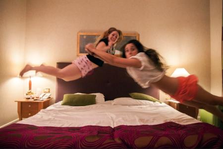 Raquel und Elisabeth im Hotel Dei Mellini.