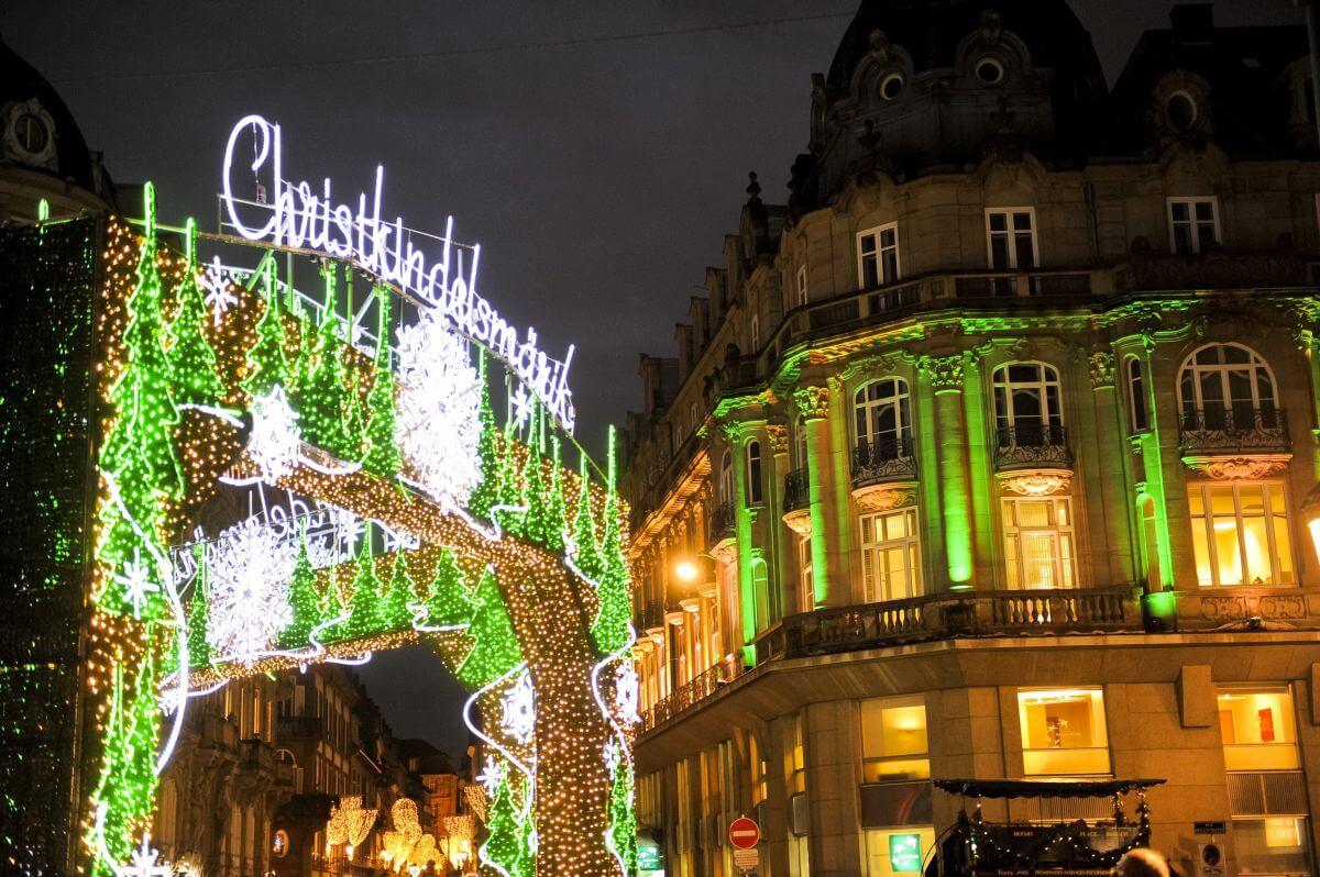 Weihnachtsmarkt in Straßburg Frankreich
