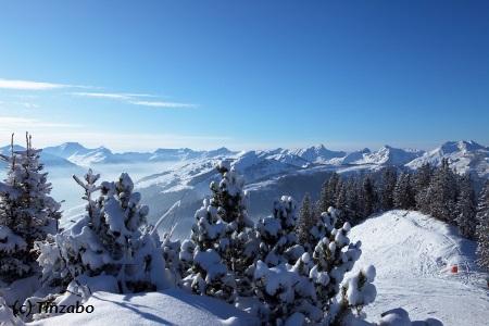 Saalbach Hinterglemm in Österreich.