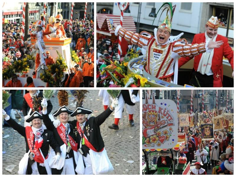 Der große Rosenmontagszug in Köln Collage