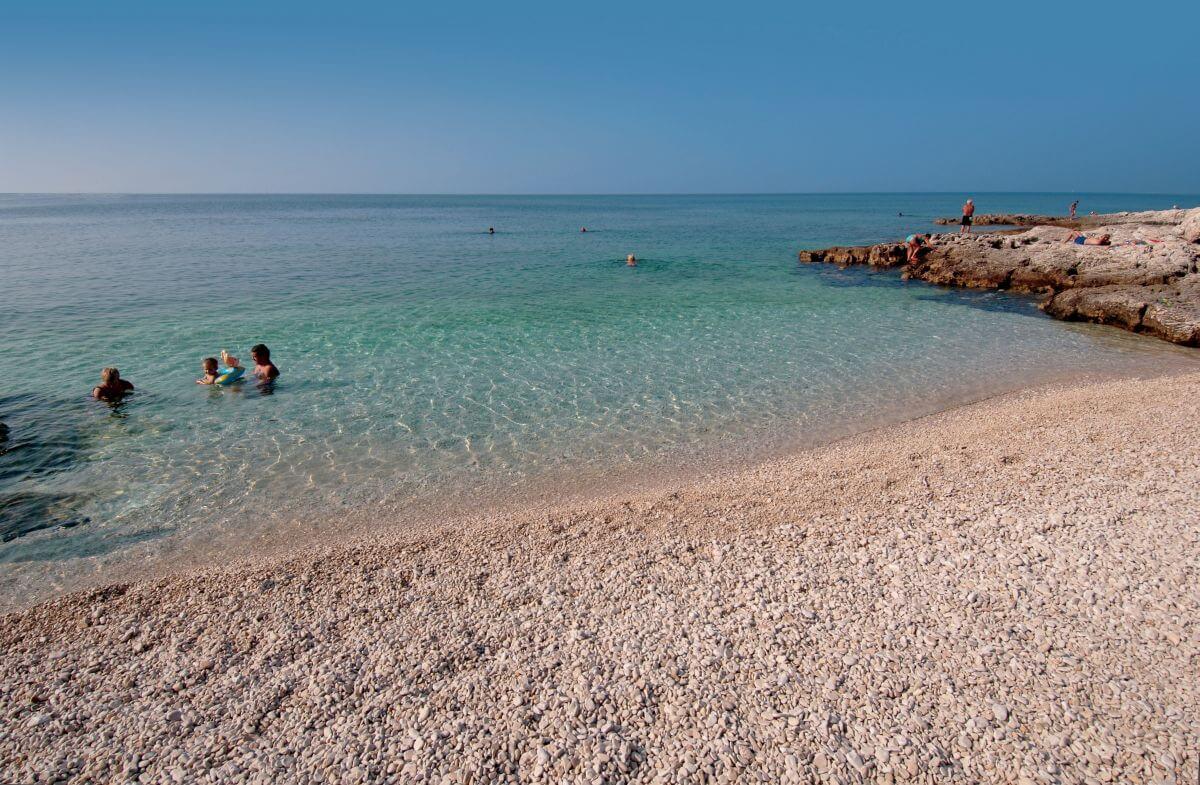 Strandbucht Kinderhotel Vespera Kroatien Lošinj