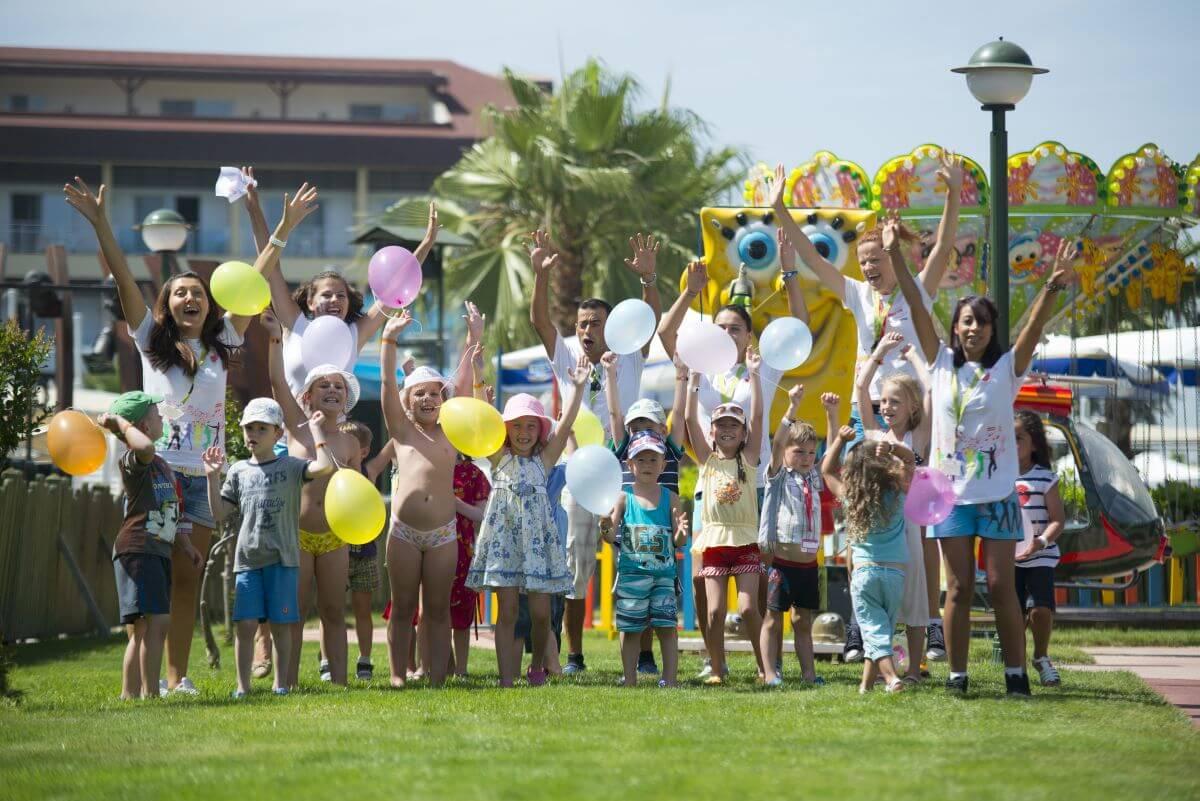Kinder Kinderanimation Otium Eco Club Side Türkei