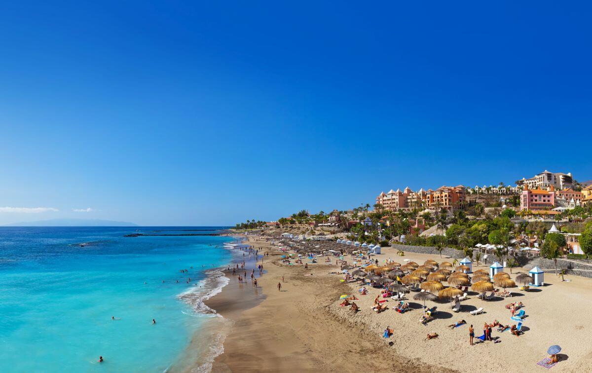 Spanien kanarischen Inseln Teneriffa Strand Las Americas