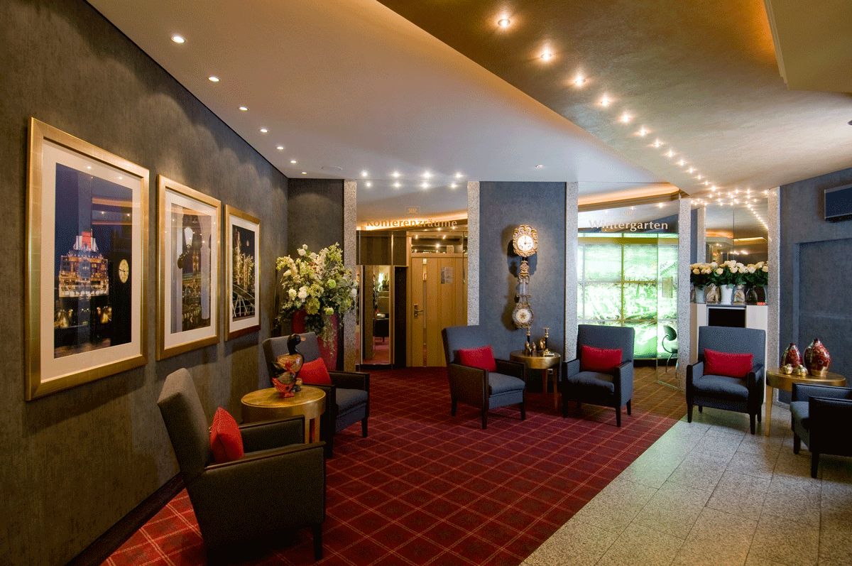 Die Lobby des Best Western Plus St Raphael in Hamburg.