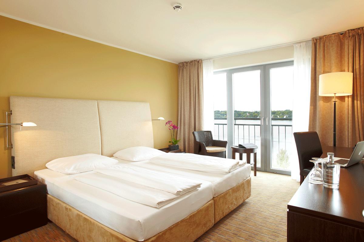 Doppelzimmer im The Rilano Hotel Hamburg.