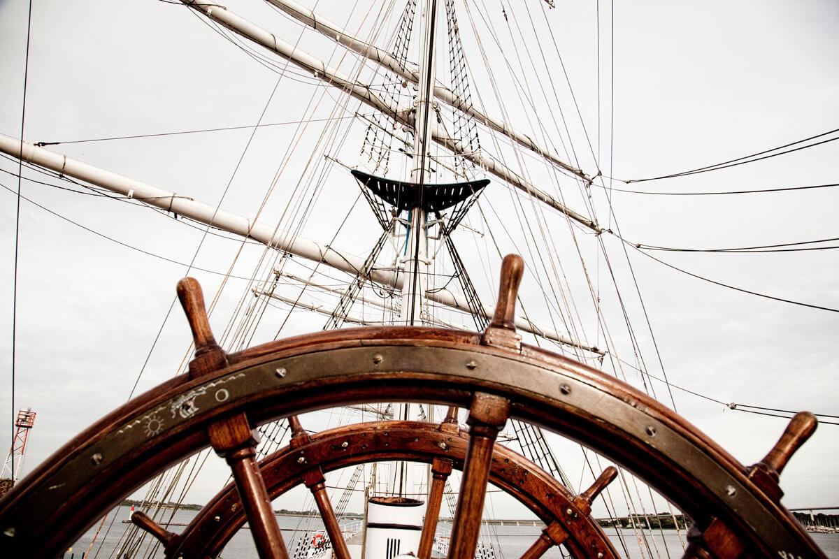 Ruder vom Schiff Gorch Fock