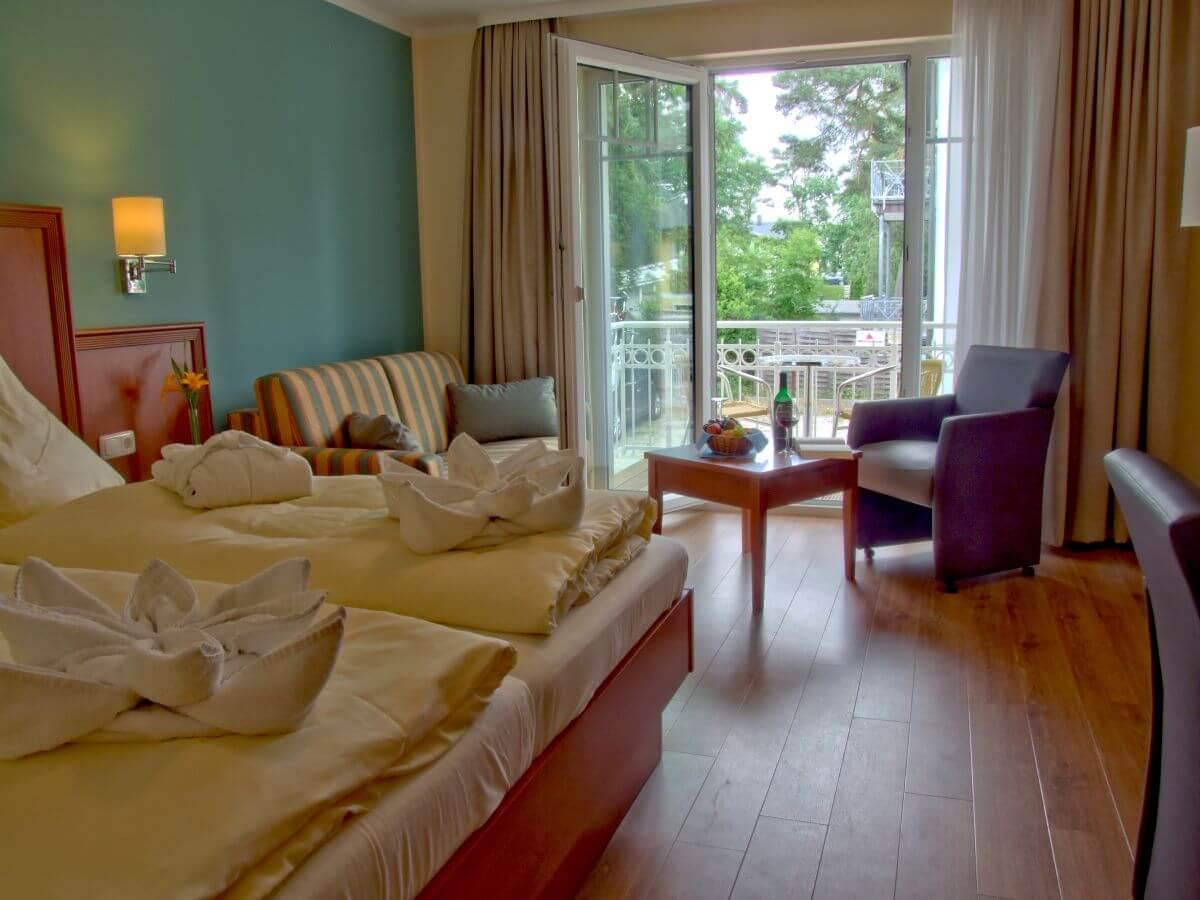 Komfort Doppelzimmer Strandhotel Baabe Rügen