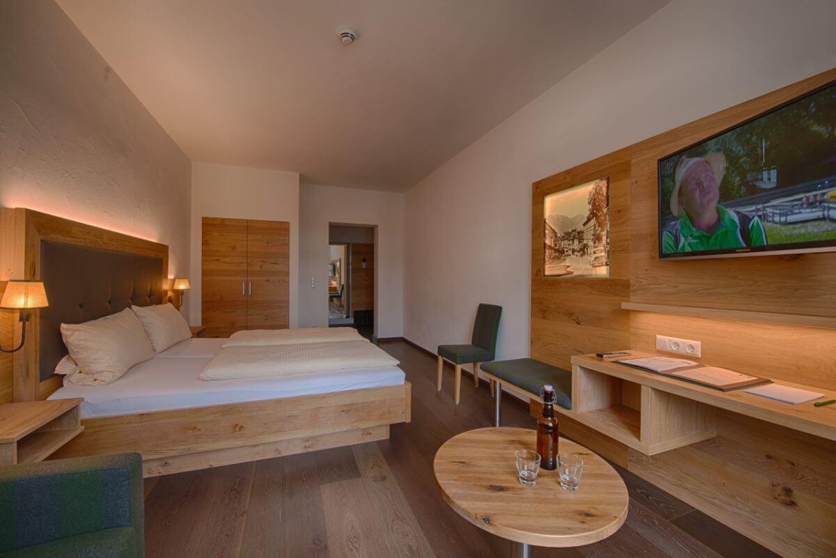 Hopfendarre Doppelzimmer im Bierhotel Griesbräu